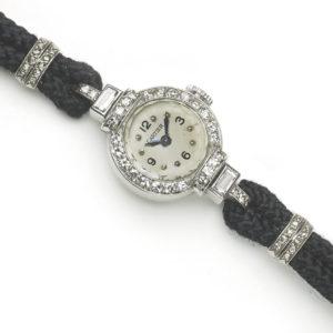 Vintage Cartier Platinum & Diamond Watch