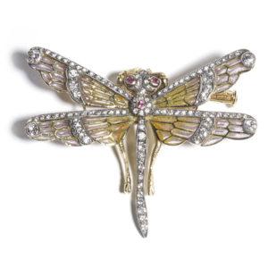 Enamel Dragonfly Brooch