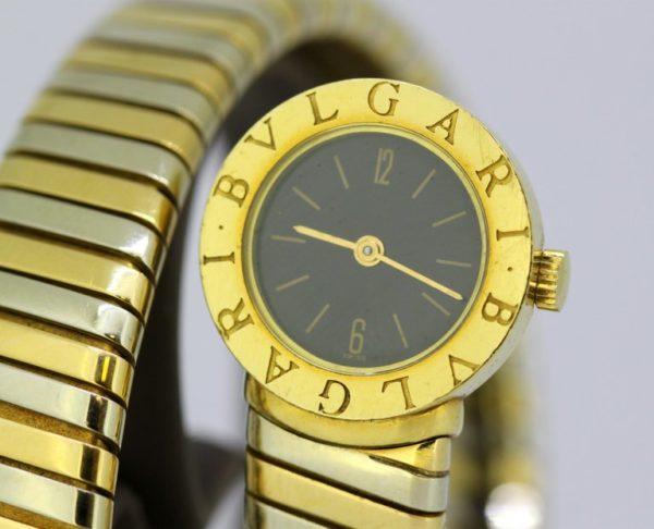 Vintage Bulgari Tri-Color Serpenti Tubogas Snake Watch