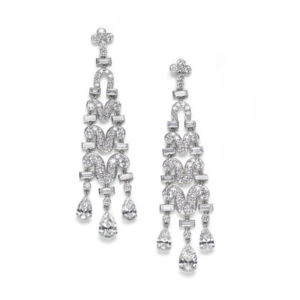 Diamond Drop Earrings, 9 Carats