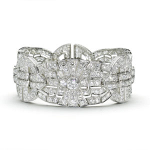 Art Deco Diamond Panel Platinum Bracelet ART DECO jewellery London Jewellery Discovery