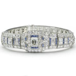 Antique Art Deco Sapphire and Diamond Bracelet