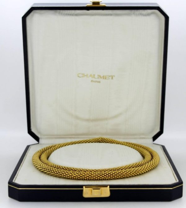 Vintage Chaumet 18ct Yellow Gold Necklace