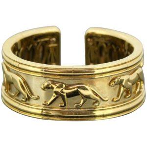 Vintage Panthére De Cartier 18ct Gold Bangle