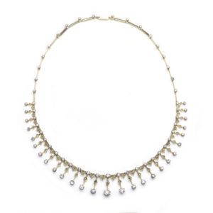 Antique Diamond Fringe Necklace