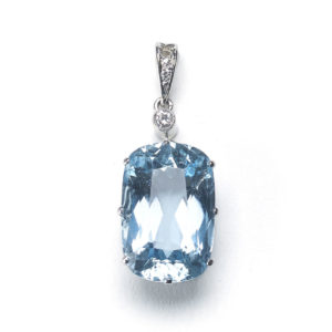Aquamarine and Diamond Pendant 10.50ct