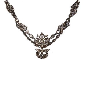 Rare Antique Georgian Silver Paste Choker Necklace