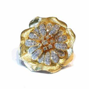 Vintage Boris Lebeau Diamond Brooch Pendant