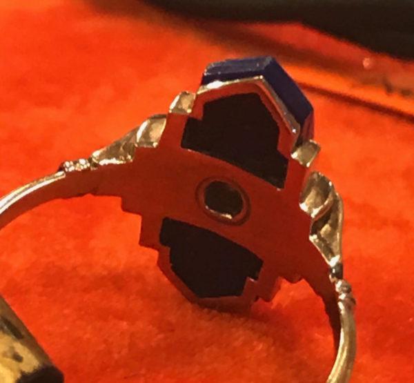 Art Deco Lapis Lazuli And Diamond Ring, C 1920's Jewellery Discovery