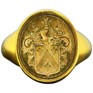 Antique Georgian 18ct Yellow Gold French Seal Ring