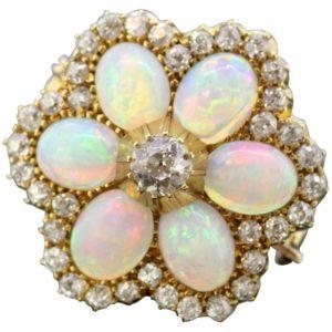 Antique Victorian Opal Brooch