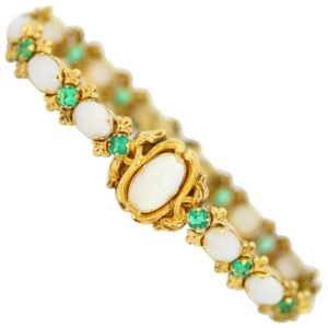 Antique Victorian Opal and Emerald Bracelet
