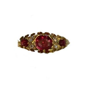 Antique Victorian Ruby and Diamond Ring