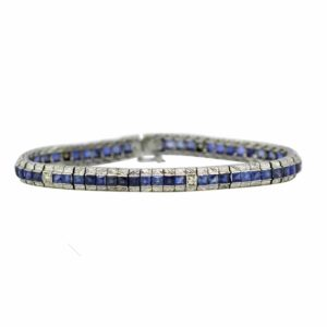 Antique Art Deco Sapphire and Diamond Bracelet, 1930's Jewellery Discovery London