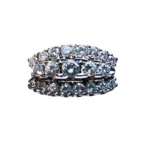 Vintage Three Row Diamond Ring