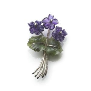 Vintage Viennese Flower Brooch