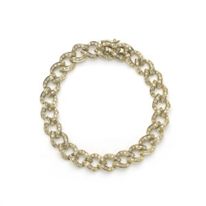 Diamond Set Curb Link Bracelet