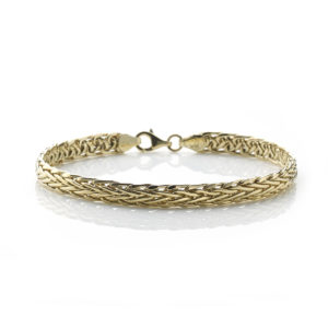 18ct Yellow Gold Woven Link Bracelet
