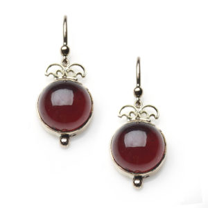 Antique Victorian Garnet Drop Earrings