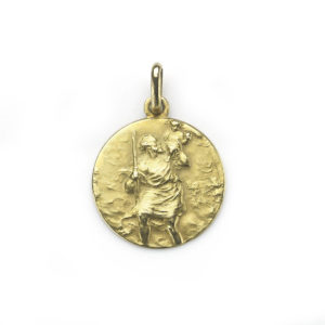 18ct Yellow Gold St Christopher Pendant