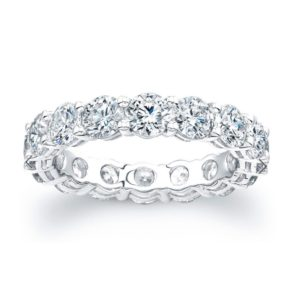 Round Diamond Full Eternity Wedding Ring, 4.10 Carats Jewellery Discovery London