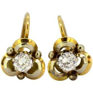 Vintage Diamond Clip-On Earrings