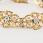 French antique gold bracelet 1900 open work Jewellery Discovery London