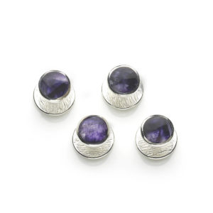 Blue John Set Silver Shirt Studs