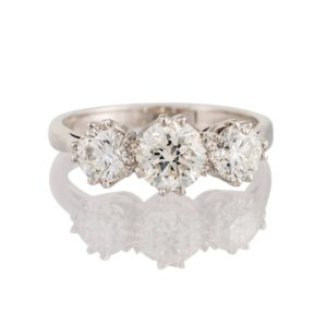 Antique Three Stone Engagement Ring