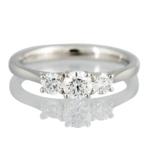 Ogden of Harrogate 'Rosina' Three Stone Diamond Ring