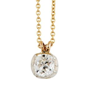 Single Stone Diamond Pendant