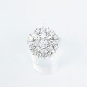 Brilliant Cut Diamond Cluster Ring