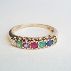 'Dearest' Gem Set Ring