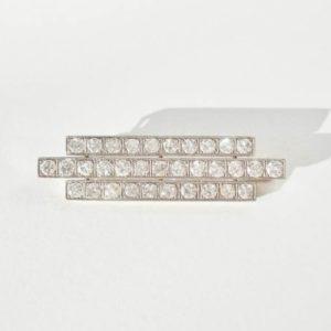 Vintage Three Row Diamond Brooch