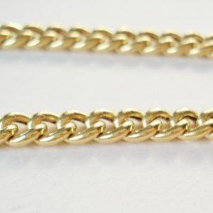 Vintage Gold Long Link Necklace