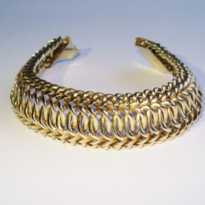 Gold Wave Design Bracelet