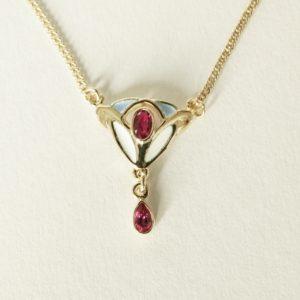 Art Deco Style Ruby Pendant