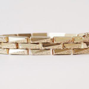 Vintage Brick Link Gold Bracelet