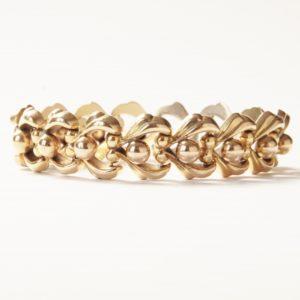 Vintage Gold Fancy Link Bracelet