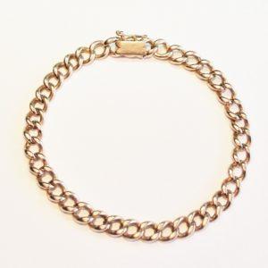 Antique Gold Curb Link Bracelet