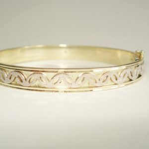 Gold Bracelet with White Gold Motif