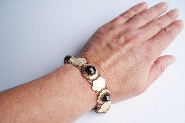 Garnet and Gold Bracelet