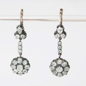 Antique Russian Diamond Earrings