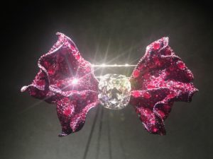 Cindy Chao Ruby and Diamond Bow Brooch