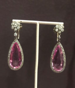 Marjan Sterk Pink Topaz Earrings Philippe Wolfers Pendant TEFAF FAIR MAASTRICHT 2019