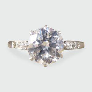 Antique Art Deco Diamond Solitaire Engagement Ring