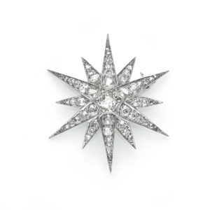 Antique Victorian Diamond Star Brooch
