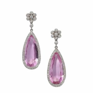 Marjan Sterk Pink Topaz Earrings