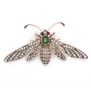 emerald and diamond bee wasp diamond brooch jewellery blog