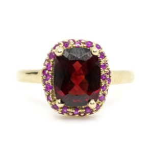 Vintage Garnet and Ruby Ring